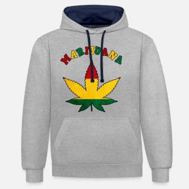 Cannabis cannabis cannabis cannabis cannabis cannabis chanvre haschich - Sweat à capuche contrasté unisexe