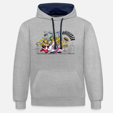 Asterix And Obelix Asterix & Obelix Fight - Unisex Contrast Hoodie