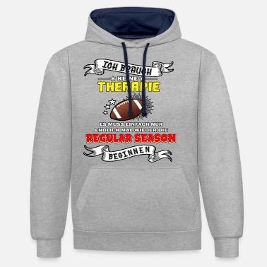 American Football - Football Fans - Gift - Unisex Contrast Hoodie