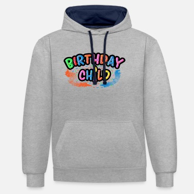 Birthday Party Birthday Kid Birthday Party Birthday Party - Unisex Contrast Hoodie