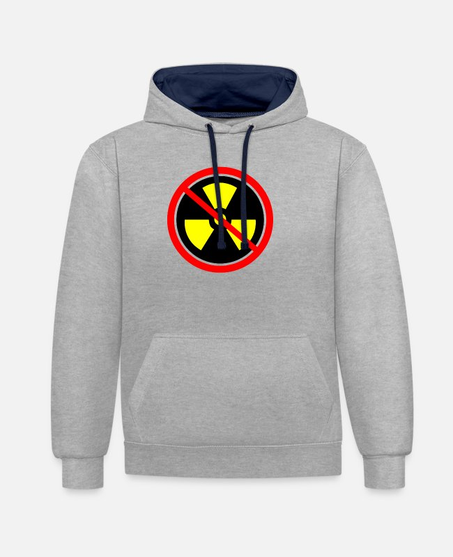Chernobyl Hoodies & Sweatshirts - Anti nuclear power Nuclear power stations Nuclear energy Atomic energy - Unisex Contrast Hoodie heather grey/navy