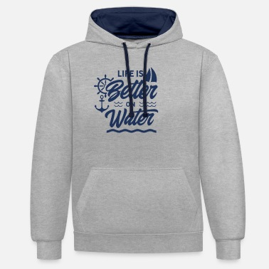 Sailboat Sailboat - Unisex Contrast Hoodie