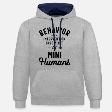 Intervention Behavior Intervention Specialist Job Title Gift - Unisex Contrast Hoodie