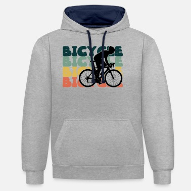 Cycling Bicycle Cycling Bicycle Tour Cycling - Unisex Contrast Hoodie