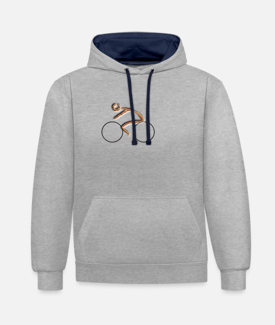 Renner Hoodies & Sweatshirts - cyclist - Unisex Contrast Hoodie heather grey/navy