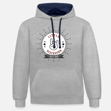 Little Rock Star french fries fork - Unisex Contrast Hoodie