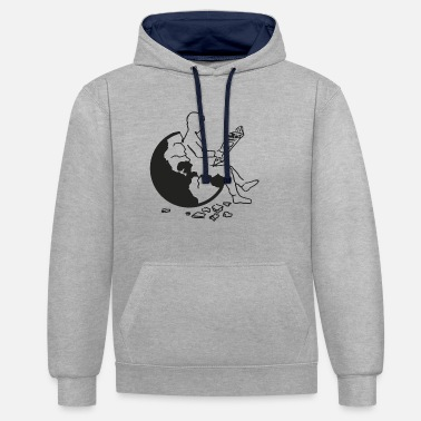Goodbyeearth Earth | black - Unisex Contrast Hoodie
