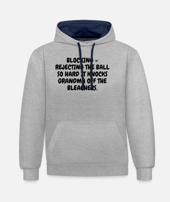 Play Hoodies & Sweatshirts - Volleyball - Volley Ball - Volley-Ball - Sport - Unisex Contrast Hoodie heather grey/navy