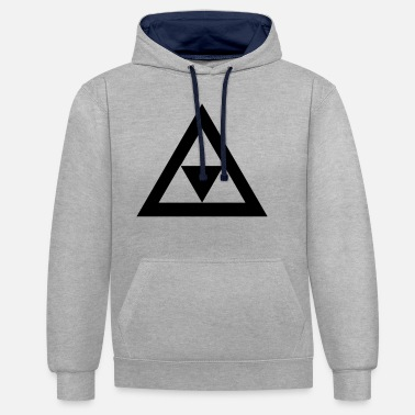Triangle Triangle in the triangle - Unisex Contrast Hoodie