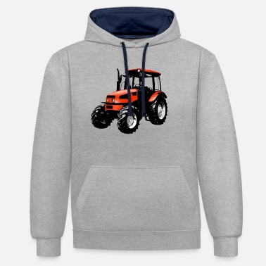 Red tractor red - Unisex Contrast Hoodie
