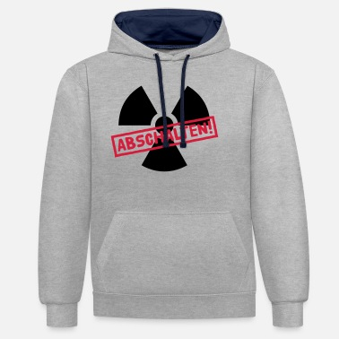 Castor Transport Nuclear power shutdown - Unisex Contrast Hoodie