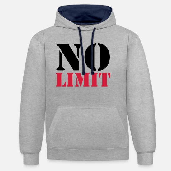 Limit Pullover & Hoodies - No Limit - Unisex Hoodie zweifarbig Grau meliert/Navy