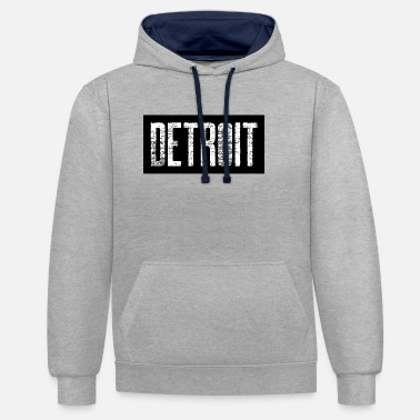 Down With Detroit Detroit USA Americas Cities City Michigan detroit - Unisex Contrast Hoodie