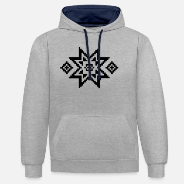 Pattern Norwegian pattern (winter) 04.0 - Unisex Contrast Hoodie