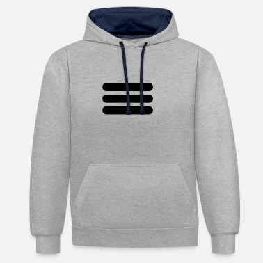 Striping stripes - Unisex Contrast Hoodie