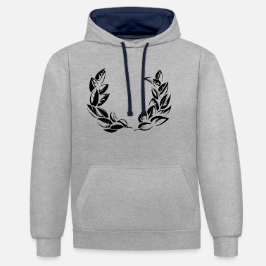 Laurel bay laurel laurel wreath symbol - Unisex Contrast Hoodie