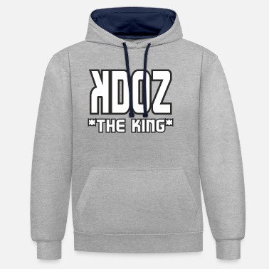 Black And White Collection Woezoo - Kdoz The King, black collection - Unisex Contrast Hoodie