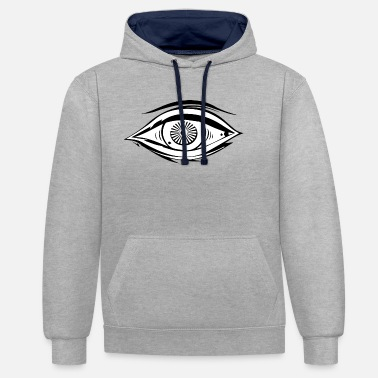 Chevalier Du Temple Illuminati Secret Society Maonic Eye Gift Ord - Sweat à capuche contrasté unisexe