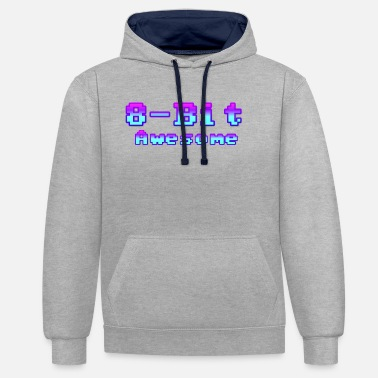 8 Bit 8 bit Awesome - Unisex Contrast Hoodie
