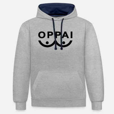 Punch Oppai One punch man - Kontrast hoodie unisex