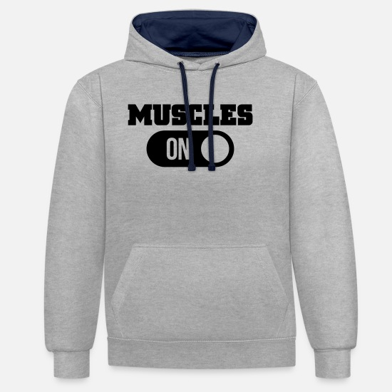 Gorilla Hoodies & Sweatshirts - muscles - Unisex Contrast Hoodie heather grey/navy