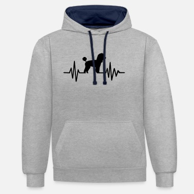 Toy Toy Poodle - Unisex Contrast Hoodie