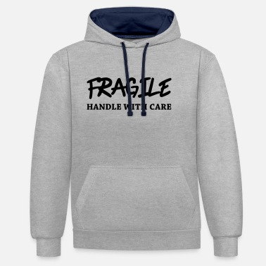 Fragile- Handle With Care Fragile - Handle with care - Sudadera con capucha en contraste unisex