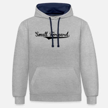 Small small forward retro college baseball sty - Unisex Contrast Hoodie