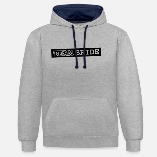 Celebrate Hoodies & Sweatshirts - Team Bride Design - Unisex Contrast Hoodie heather grey/navy