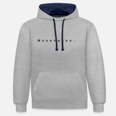 Mountains. Design 1 by PLYmyART - Unisex Contrast Hoodie