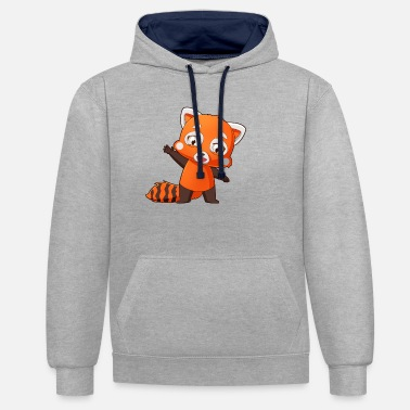 The Red Panda Club - Unisex Hoodie zweifarbig