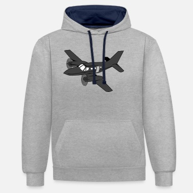 Airplane airplane airplane airplane hot air balloon air ba - Unisex Contrast Hoodie