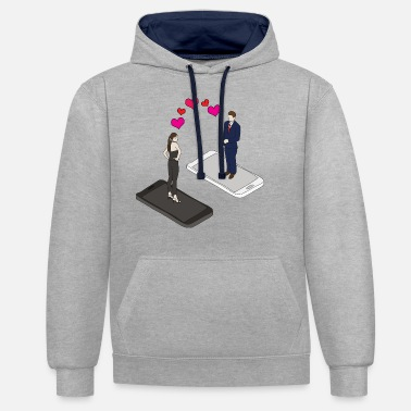 dating online Mobile Internetdate liefde dating - Unisex contrast hoodie