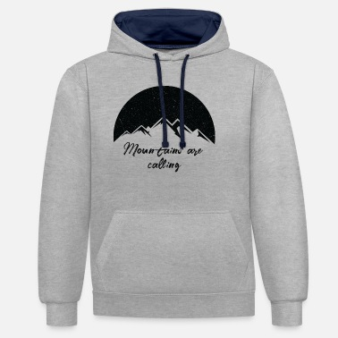 Mountains Mountains - Unisex Contrast Hoodie