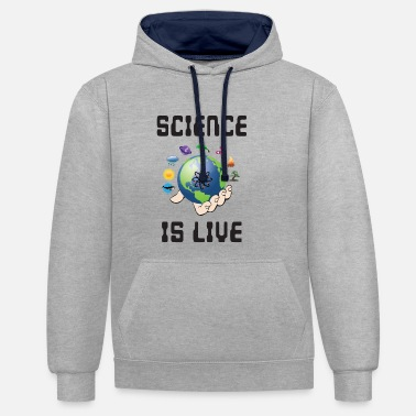 Equation Science is life - Unisex Contrast Hoodie