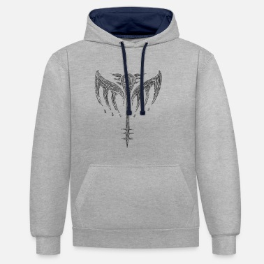 Mythology Valkyrie Valkyrie icon wing Odin Walhalla - Unisex Contrast Hoodie
