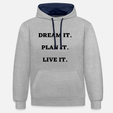 Attitude Motivational Quote Attitude Slogan - Unisex Contrast Hoodie