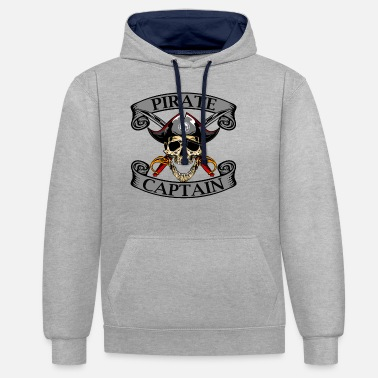 Pirate Pirate Captain Pirate Pirate Captain Kids - Unisex Contrast Hoodie