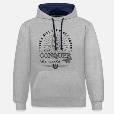 Give a girl the right shoes - Western Riding - Unisex Hoodie zweifarbig