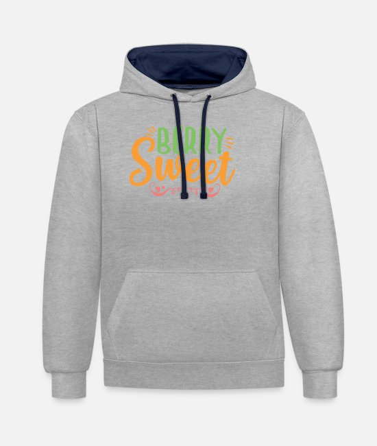 Beach Hoodies & Sweatshirts - Summertime - Unisex Contrast Hoodie heather grey/navy