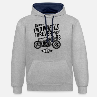 Two-wheeled Two Wheels Forever - Unisex Contrast Hoodie