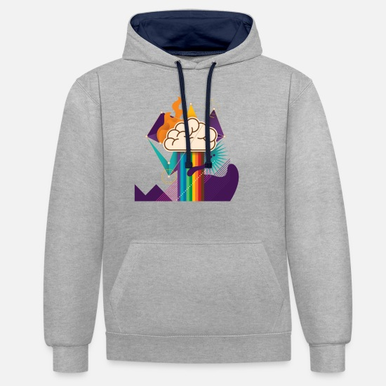 Brilliant Hoodies & Sweatshirts - IDEA - Unisex Contrast Hoodie heather grey/navy