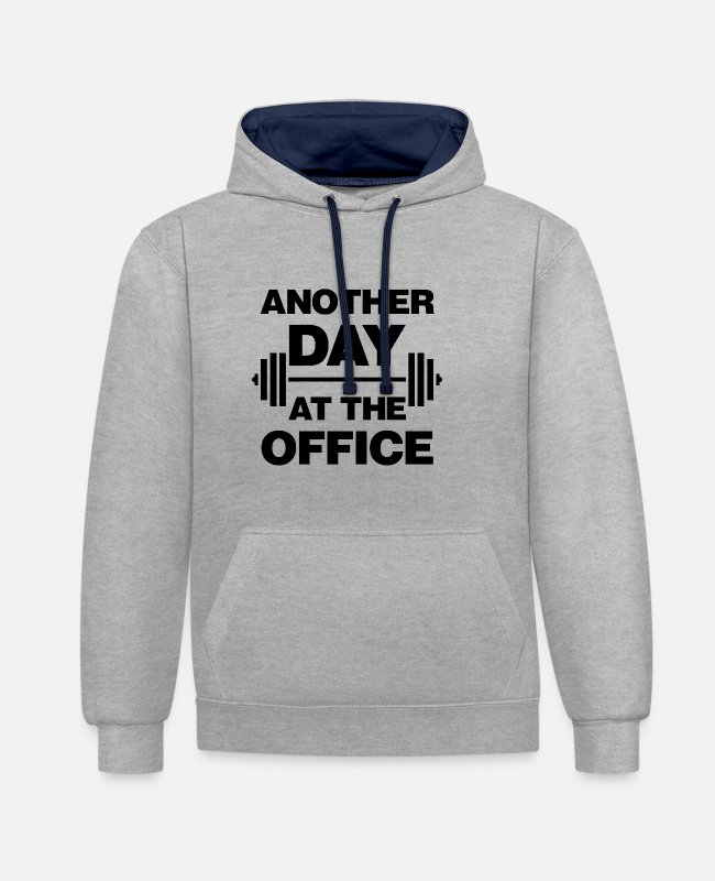 Office Hoodies & Sweatshirts - Another Day At The Office - Unisex Contrast Hoodie heather grey/navy