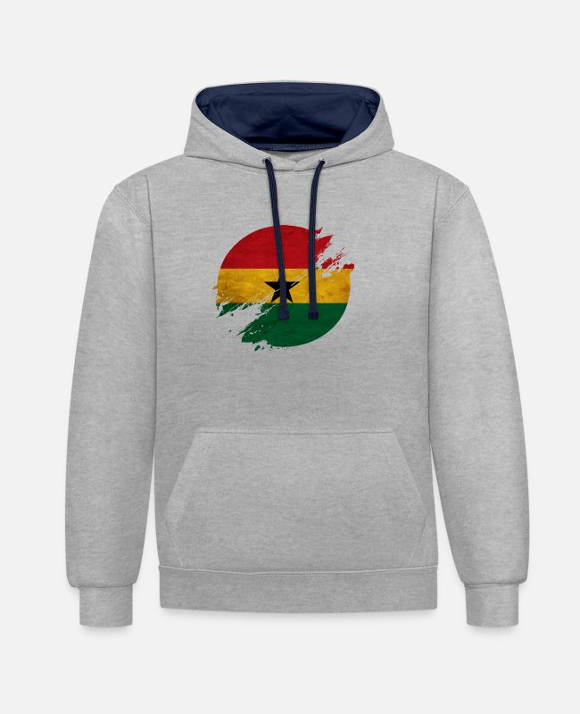 Takoradi Hoodies & Sweatshirts - Ghana district - Unisex Contrast Hoodie heather grey/navy