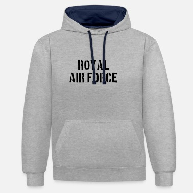 Royal Air Force Royel Air Force - Piloto - Avión - Avión - Jet - Sudadera con capucha en contraste unisex