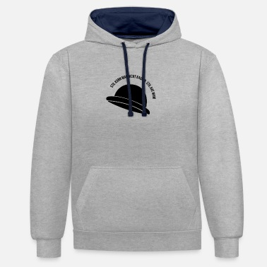 Hipster Style hat shirt gift gift idea - Unisex Contrast Hoodie