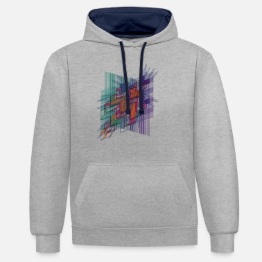 Psichedelico hyperspace4 - Unisex Contrast Hoodie