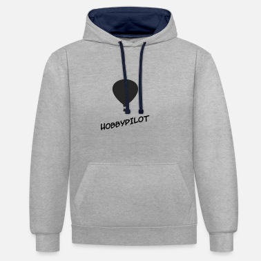 Recreational recreational pilot - Unisex Contrast Hoodie
