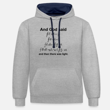 Equation Maxwell's equations - Unisex Contrast Hoodie