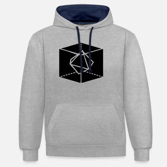 Sacred Geometry Hoodies & Sweatshirts - Sacred geometry - Unisex Contrast Hoodie heather grey/navy